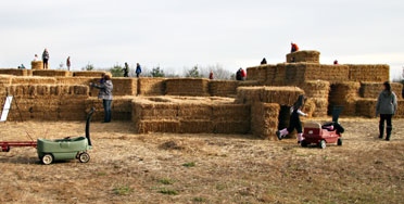 Straw Maze Attraction at Sloan's Village