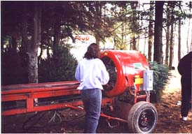 Christmas Tree Baler at Sloan's Village