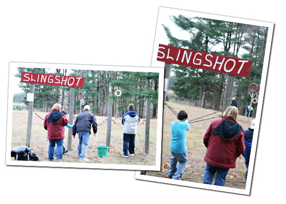 Sling Shot Challenge at Sloan's Village